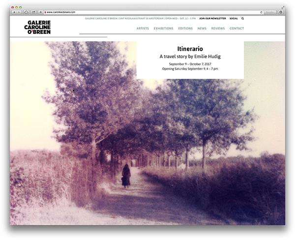 Galerie Caroline O'Breen website